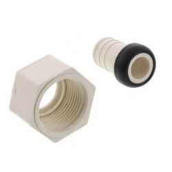 "3/4"" PEX x 3/4"" FPT PolyAlloy Crimp<br>Swivel Adapter Product Image"
