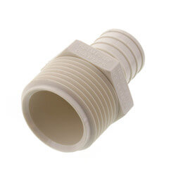"1"" PEX x 1"" MPT PolyAlloy Crimp Adapter Product Image"
