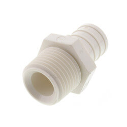 "3/4"" PEX x 1/2"" MPT PolyAlloy Crimp Adapter Product Image"