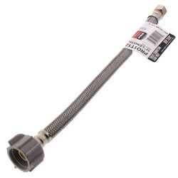 "PRO1T12 12"" Braided Hose Toilet Connector (3/8"" Comp. x 7/8"" Ballcock) Product Image"