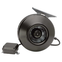 "PV-POWERVENT 5"" Centrifugal Duct Fan (115V, 2350 RPM, 58W) Product Image"