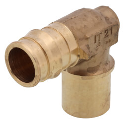 """3/4"""" ProPEX x 3/4"""" Copper Fitting Baseboard Elbow Product Image"""