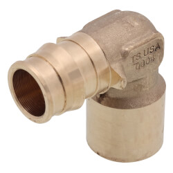 """3/4"""" ProPEX x 3/4"""" Copper Baseboard Elbow Product Image"""