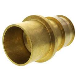 "ProPEX Brass Fitting Adapter, 2"" PEX x 2"" Copper"