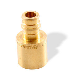 "3/8"" ProPEX x 1/2"" Copper Pipe Adapter (Lead Free Brass)"