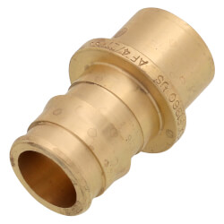 "5/8"" ProPEX x 1/2"" Copper Pipe Adapter (Brass)"