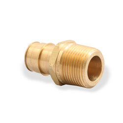 "ProPEX LF Brass Male Threaded Adapter, 1-1/4"" PEX x 1-1/4"" NPT"