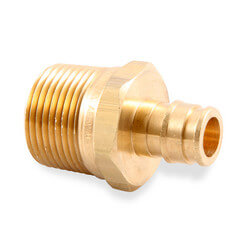 "ProPEX LF Brass Male Threaded Adapter, 3/4"" PEX x 3/4"" NPT"