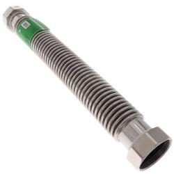 "2"" Flexible Water Heater Connector (18"" Length) Product Image"