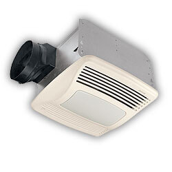 "QTXE110SFLT Humidity Sensing Vent Fan - Fluor. & Night Light, 6"" Duct Product Image"