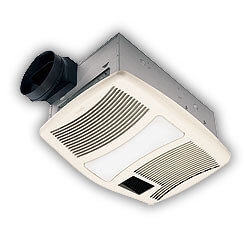 """QTXN110HL Heater Combo Vent Fan w/ Light<br>6"""" Round Duct (110 CFM) Product Image"""