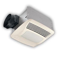 "QTXN110SL Humidity Sensing Vent Fan - Incand. Light & Night Light, 6"" Duct Product Image"