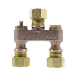"1/2"" Brass Anti-Sweat Valve w/ Nuts Product Image"