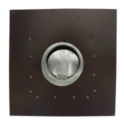 """RC4P Roof Cap, Black Painted Steel, 4"""" Duct Product Image"""