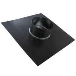 """RC6P Roof Cap, Black Painted Steel, 6"""" Duct Product Image"""