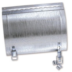 "7"" x 5"" Galvanized Round Duct Access Door Product Image"