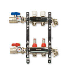 2-Loop Stainless Steel Radiant Heat Manifold