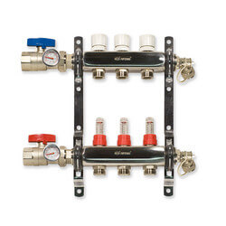 3-Loop Stainless Steel Radiant Heat Manifold