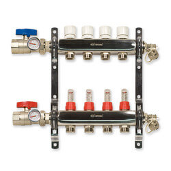 4-Loop Stainless Steel Radiant Heat Manifold