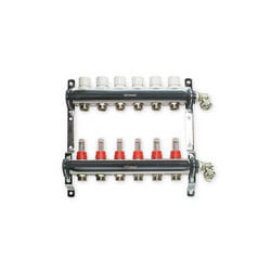 "6 Loop Stainless Steel Manifold Package<br>(1/2"" PEX) Product Image"