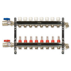 8-Loop Stainless Steel Radiant Heat Manifold