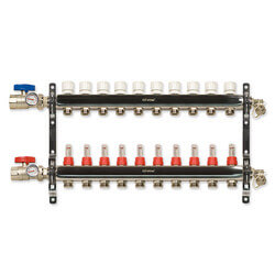 10-Loop Stainless Steel Radiant Heat Manifold