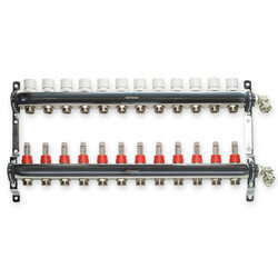 "12 Loop Stainless Steel Manifold Package (1/2"" PEX)"