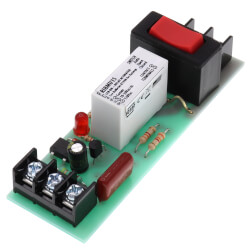"""4"""" Track Mount Relay 15 Amp SPST & Override w/ 10-30 VAC/DC/120 VAC Coil Product Image"""