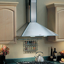 "36"" Stainless Steel Wall Mount Chimney Hood w/ Internal Blower (270 CFM)"