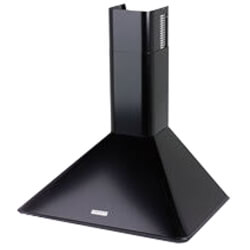 "36"" Black Wall Mount Chimney Hood w/ Internal Blower (270 CFM)"