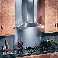 "30"" Stainless Steel Wall Mount Chimney Hood w/ Internal Blower (370 CFM)"