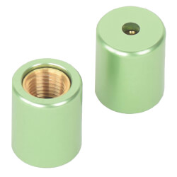 Green Refrigerant Safety Caps with Tool for R22 (Pack of 2 Caps) Product Image