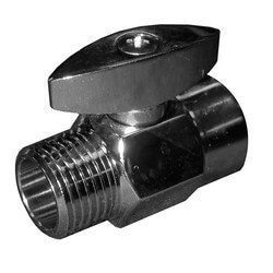 """Chrome-Brass Water Volume Control<br>(1/2"""" x 1/2"""") Product Image"""