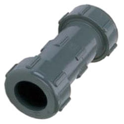 "1/2"" PVC Sch. 40 Compression Coupling (PVC Gray - EPDM Gasket) Product Image"
