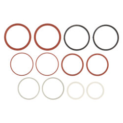 Assorted Red/White Cap Thread Gaskets for Faucets (12/Card) Product Image