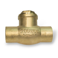 "4"" Solder Ends Swing Check Valve, Lead Free"