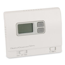 Non-Programmable SimpleComfort Thermostat - 1 Heat/1 Cool/1 Heat Pump (4 or 5 Wire Compatible)