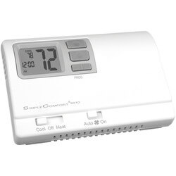 Programmable 1H/1C/1 Heat Pump (Dual Powered) SimpleComfort Thermostat Product Image