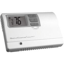 SimpleComfort PRO Series Programmable Thermostat - 1 Heat/1 Cool/1 Heat Pump