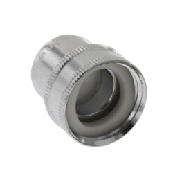 "Slotless Chrome Female Faucet Aerator w/ 3/4"" F Garden Hose Thread Product Image"