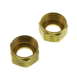 """1/2"""" Faucet Shank Nuts for 3/8"""" OD Tube (2 per card) Product Image"""