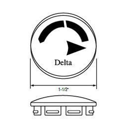 """1-1/2"""" Handle Cap for Monitor 1300/1400 Series Delta Faucets (Clear) Product Image"""