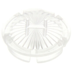"""1-1/16"""" Clear Hot Handle Cap for Gerber Faucets (5-Pack) Product Image"""