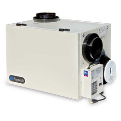 "SHR Series Heat Recovery Ventilator w/ Recirculation Defrost, 6"" Side Ports (up to 3,600 Sq. Ft.)"
