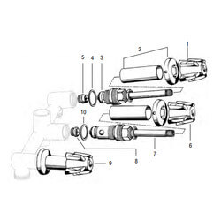 Central Brass 3-Handle Tub/Shower Rebuild Kit Product Image