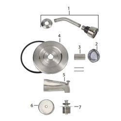 Moen Complete Kit Chateau Tub/Shower Trim Kit Product Image