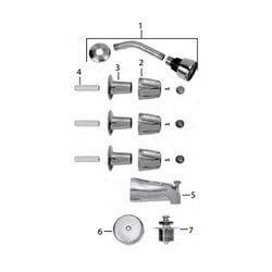 Price Pfister Old Style Verve Tub/Shower Trim Kit Product Image