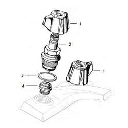 Sterling 2-Handle Lav/Kitchen Rebuild Kit Product Image