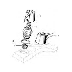 Union Brass 2-Handle Lav/Kitchen Rebuild Kit Product Image