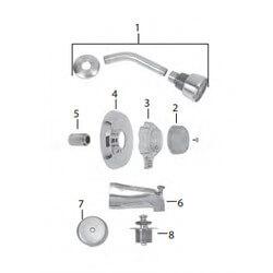 Mixet Complete Kit Single Handle Tub/Shower Trim Kit Product Image